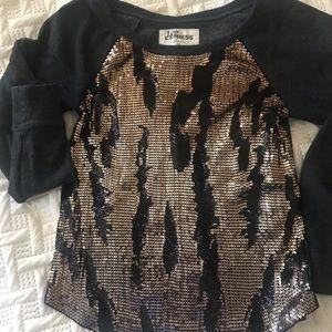 Express sequined sweatshirt top